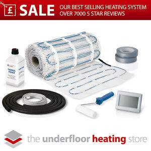 Electric Underfloor Heating mat kit 100w per m2 All Sizes in this Listing