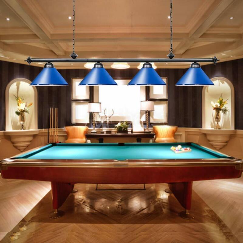 "74"" Pool Table Light Snooker Billiard Pendant light Metal Shades Chandelier Blue"