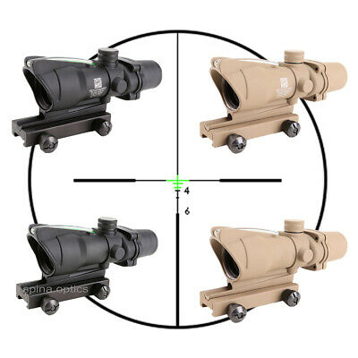 SPINA ACOG 4x32 Crosshair Green Illuminated real fiber optics Riflescope sight