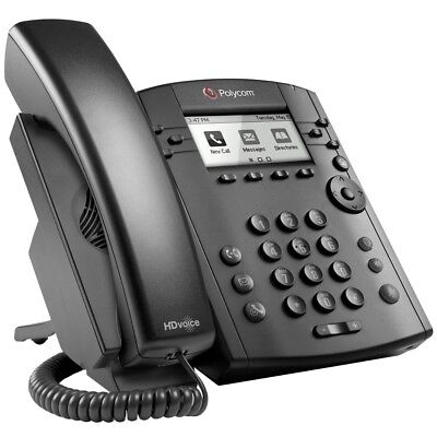 Polycom Vvx 301 6 Line Voip Display Phone Black 2200-48300-025