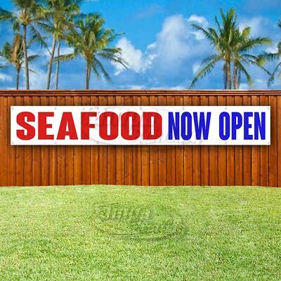 Seafood Now Open Advertising Vinyl Banner Flag Sign Large Huge Xxl Size