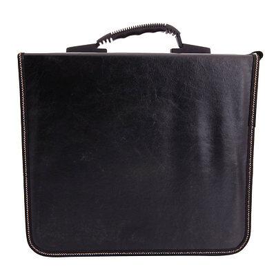 520 Disc CD DVD Check Pattern Storage Bag Organizer Holder Case Khaki & Black