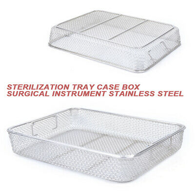 Stainless Steel Sterilization Basket Instrument Mesh Frame Durable Tray Box