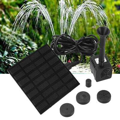 Solar Powered Water Pump Panel Garden Patio Pool Pond Fish Aquarium Fountain.