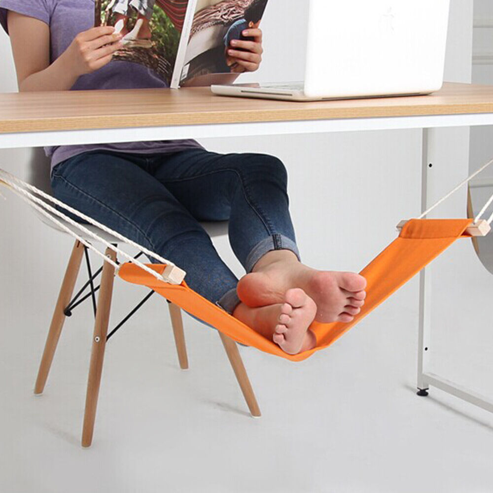 Portable Mini Office Foot Rest Stand Desk Feet Hammock