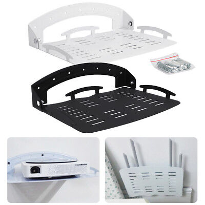 Foldable DVD Wall Mount Bracket Under TV Shelf DVR Cable Box Game Console (Wall Mount Dvd Holder)