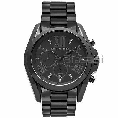 Michael Kors Original MK5550 Bradshaw Al Black Chronograph Watch 43mm