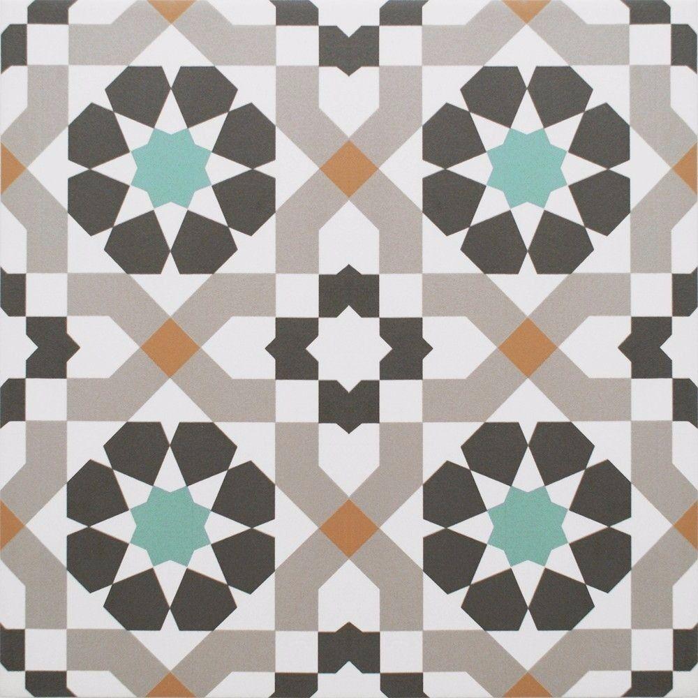 Harika Tatli Geometric Floor Tiles Vintage Pattern Ceramic