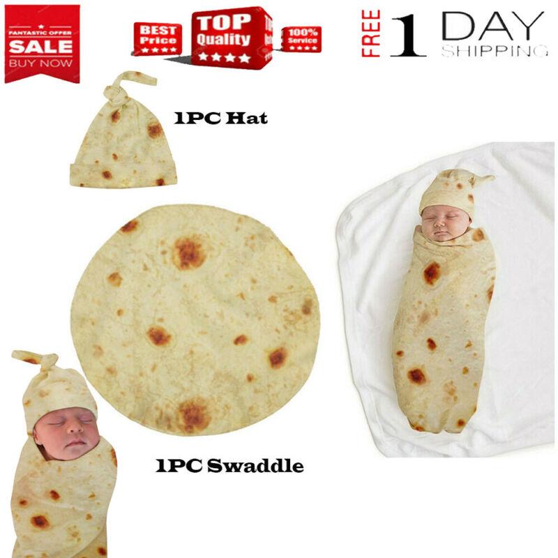 Burrito Flour Tortilla Baby Blanket Set Boy Girl Sleeping Sw