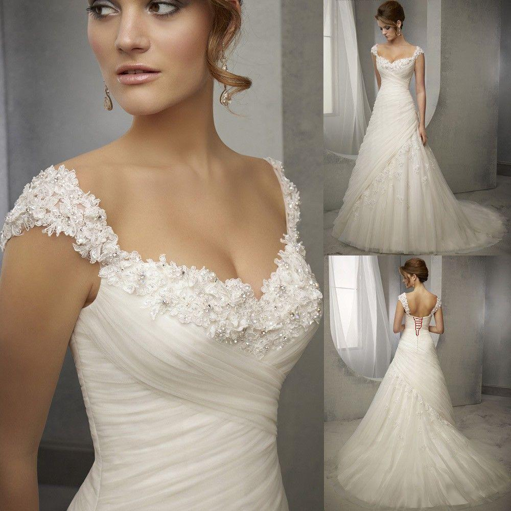 Brautkleid-Hochzeitskleid-Ballkleid-Wedding-dress-Gr-32-34-36-38-40-42-44