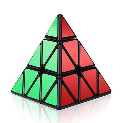 Kid Brain Teasers (Rubiks Pyramid Speed Cube Rubix Games Magic Puzzle Kid Brain Teasers Toy)