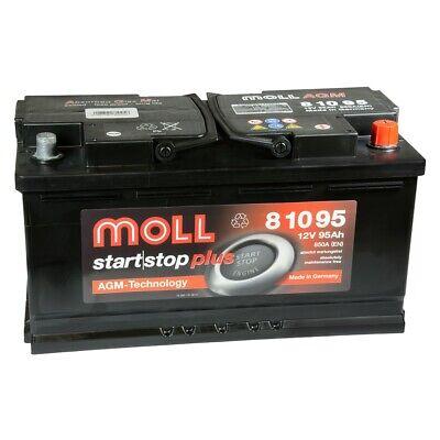 MOLL start stop plus AGM 81095 12V 95Ah Autobatterie Startbatterie Batterie*NEU*