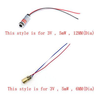 1x Diy 3v 5mw 650nm Red Dotlinecross Point Laser Module Focus Adjustable Lazer