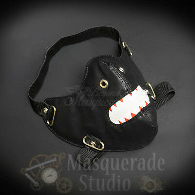 Ken Kaneki Inspired Punk Faux Leather Costume Zippered Mouth Mask Accessory
