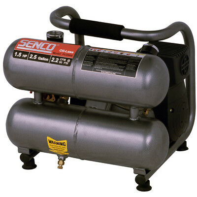 Senco 1.5 Hp 2.5 Gallon Oil-free Hand-carry Air Compressor Pc0968 New