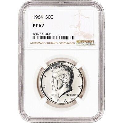 1964 US Kennedy Silver Half Dollar Proof 50C - NGC PF67