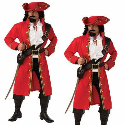 Deluxe Herren Piraten Kostüm Erwachsene Haken Peter Pan - Peter Pan Pirat Kostüm