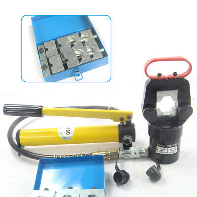 20t 16-400mm2 Hydraulic Cable Wire Terminal Pliers Crimper With 12 Diespump Usa