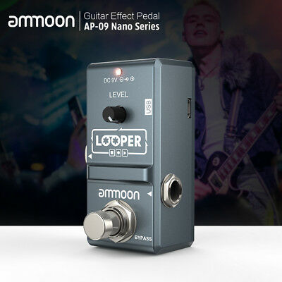 ammoon AP09 Electric Guitar Effect Pedal Looper True Bypass Nano Loop L6Q1