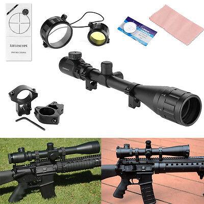6-24x50AOEG Jäger Zielfernrohr für Luftgewehr Armbrust Rifle Scope+11mm Montagen