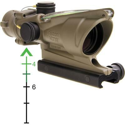 Trijicon 4x32 ACOG, Dual Illuminated Green Chevron, FDE
