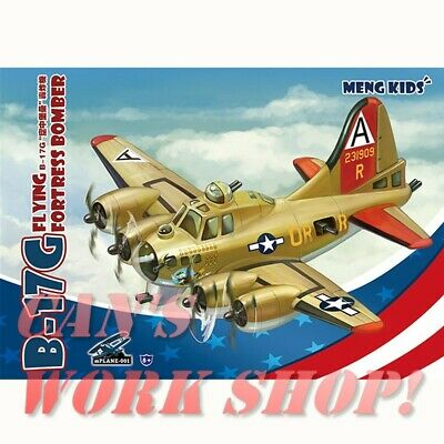 - MENG mPLANE-001 B-17G FLYING FORTRESS BOMBER Model Toy Kit Aircraft - Q Version