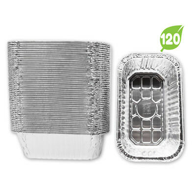 120 Pack* (OVERSTOCK) Aluminum Foil 1-LB Bread Loaf Pans Mini 6.1