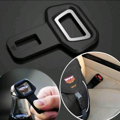1PC Car Vehicle Seat Belt Buckle Insert Warning Alarm Cancel Stopper + Opener