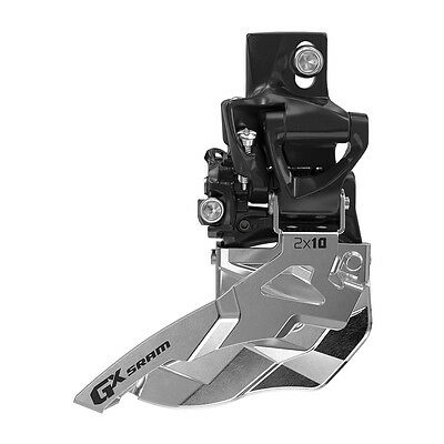 SRAM GX 2x10 Spd High Direct Mount 34T Bottom Pull Front Derailleur Fit X0 X9 X7 ()