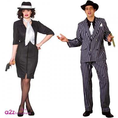 Godfather Gangster Gal 1920s 20a Al Capone Mafia Moll Adult Fancy Dress Costume