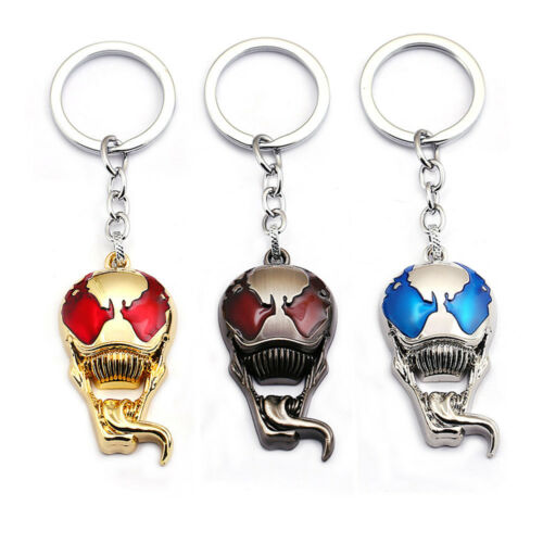 US! Venom Keychain Metal Pendant Keyring Keychain Key Ring Toy Gift Christmas Collectibles