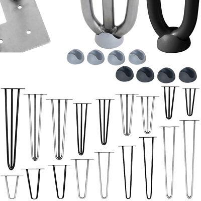 Tischbeine 4er Set Hairpin Leg Schwarz Haarnadelbeine Tischgestell Stahl
