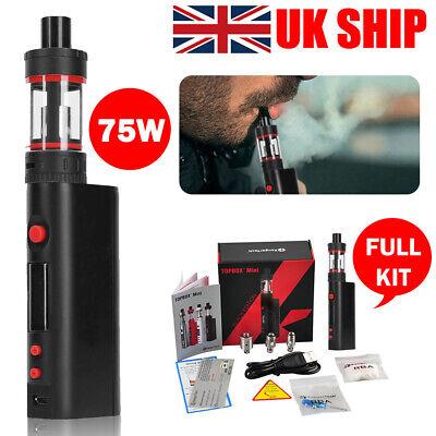 75W Black Hookah Topbox Electronic Starter Cigarettes Vape Kit Smoke Starter Kit