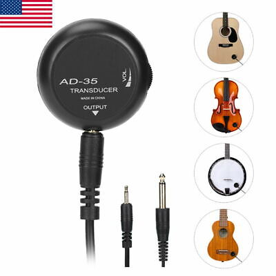 Mini Piezo Contact Microphone Pickup Transducer for Guitar Violin Banjo Ukulele