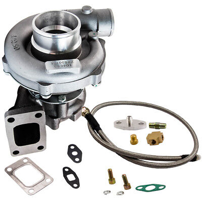 T04E T3/T4 A/R.63 57 TRIM 5-Bolt 400+HP Stage III Turbo Charger+Oil Feed Line for sale  Dayton