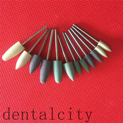 12pcs Dental Acrylic Polishing Burs Dental Polisher Rubber Dental Teeth Polising