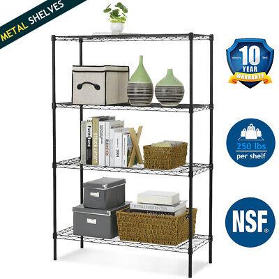 4 Tier Wire Shelving NSF 1000Lbs Capacity Shelves Adjustable Metal Storage Rack  ()