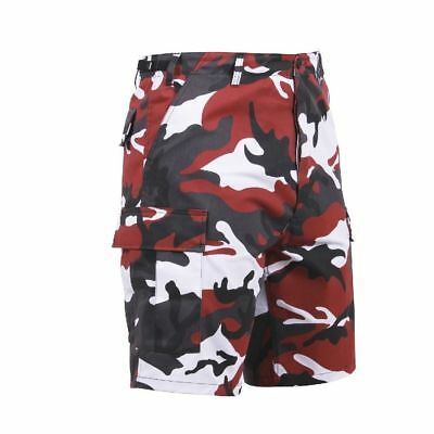 Red Camo Shorts (ROTHCO RED CAMO MENS ARMY BDU SHORTS 65221 RED CAMOFLAGE CARGO SIZE XS TO 3X)