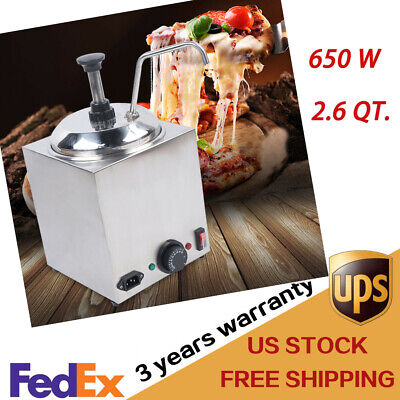 2.6 Qt. Electric Counter Nacho Cheese Sauce Warmer Dispenser 650w Large Capacity