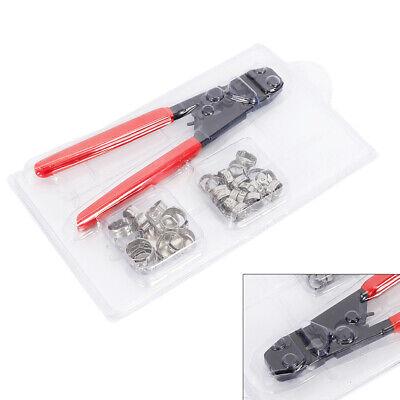 Pex Tubing Plumbing Kit Crimper Tool Elbow Stainless Cinch Crimping 38-1 Usa