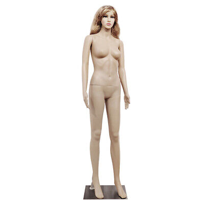 Full Body Female Mannequin Pp Realistic Display Head Turns Dress Form W Base