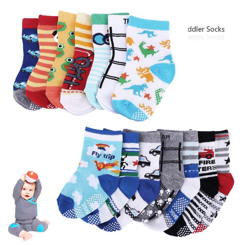 14 Paar Baby Jungen Mädchen Socken Strümpfe.Anti Rutsch ABS Baumwolle gut