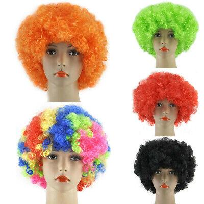 Clown Hair Wig (Afro Wig Fancy Dress Party Short Curly Clown Disco Men Women 70S Hair Costume)
