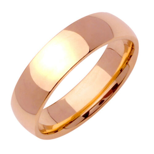 Gemini Dome Court Rose Gold Polish Couple Titanium Simple Wedding Ring Band Ebay