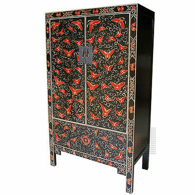 Chinese Traditional Painted Wardrobe - Butterfly - New