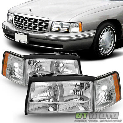 Cadillac Deville Headlight Replacement (Replacement 1997 1998 1999 Cadillac Deville Headlights Headlamps w/Corner)
