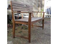 Wooden Garden Or Patio Slatted Bench