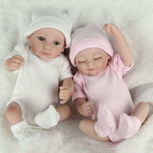 Twins Baby Dolls Lifelike Newborn Babies Full Body Vinyl Sil