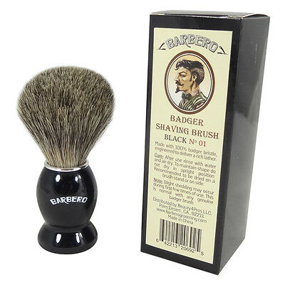 Barbero Badger Shaving Brush Black No.01