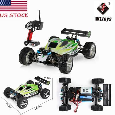 WLtoys A959-B 2.4G 1:18 1/18 4WD 70KM/H Electric RTR Off-Road Buggy RC Car USA